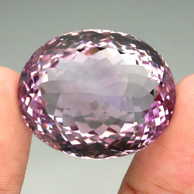 Amethyst Clean Big! 60.34ct. 26.5x22mm. Oval Cut 100%natural Top Silver Pink
