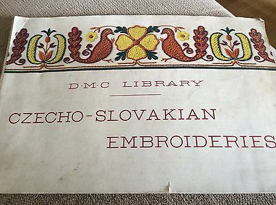 Vintage Dmc Library Czecho-Slovakian Embroideries Booklet