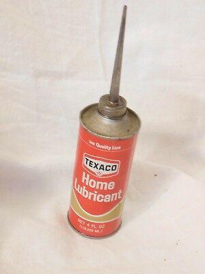 OLD tin, Texaco Home Lubricant, oil can