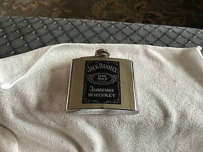 Jack Daniels Old No 7 Stainless Steel  5oz Flask, 2000