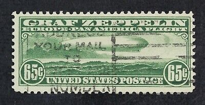 CKStamps: US Air Mail Stamps Collection Scott#C13 65c Used CV$165