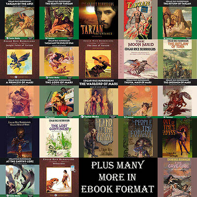 Edgar Rice Burroughs - Barsoom and Tarzan Collections + many more on mp3DVD