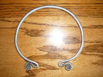 Old Coin Silver Hill Tribe Child's Torque Neck Ring / Torque Laos