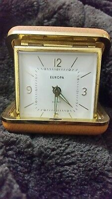 Europa Vintage 2 Jewels Travel Alarm Clock Made in Germany