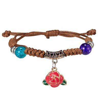Fashion Rose Flower Child Children Weave Handmade Band Bangle Bracelets Jewelry