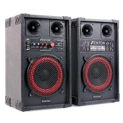 Skytec Spb-8 Altavoces 2 Bafles Activo Pasivo 400W Usb Sd Mp3 Subwoofer Speaker