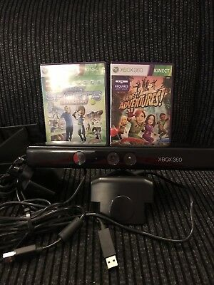 XBox 360 Kinect with sensor and 2 games