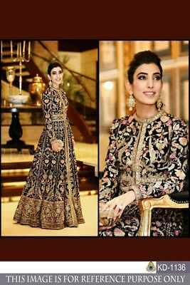 Designer Heavy Embroidery Work Gown Pakistani Party Wear Kurti Tuinc