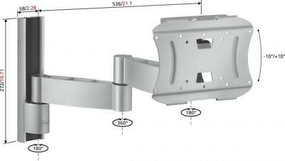 "Vogel VFW432 Silver Dual Arm Articulating Wall Mount Support for 23"" to 37"" TV"
