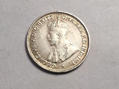 AUSTRALIA 1926 three pence small silve coin nice condition