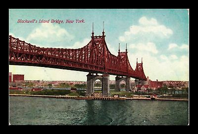 Dr Jim Stamps Us Blackwell Island Bridge New York View Postcard