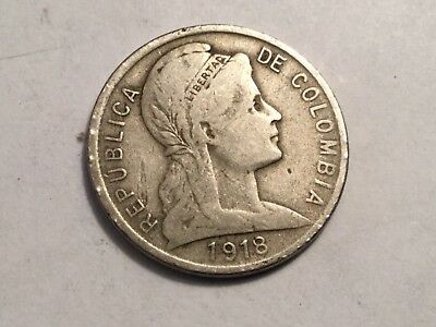 COLOMBIA 1918 5 centavos coin circulated