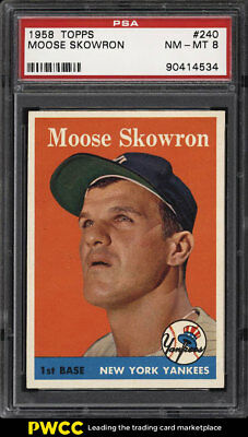 1958 Topps SETBREAK Bill Moose Skowron #240 PSA 8 NM-MT (PWCC)