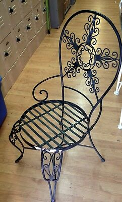Set of 4 Vintage Ornate Wrought Iron Salterini Style Hand Forged Ornate Chairs