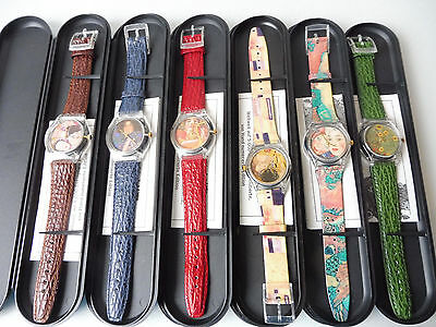 6 schöne Armbanduhren__Laks-Watch__Gustav Klimt Collection__Sammeruhren__!