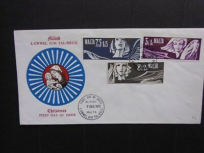 MALTA: Pictorial First Day Cover: 1972 Christmas Angels 3vals (Sg482/484)