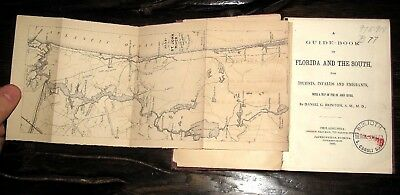 1869 FLORIDA Travel HEALTH Guide SOUTHERN Directory CITIES St John's River MAP