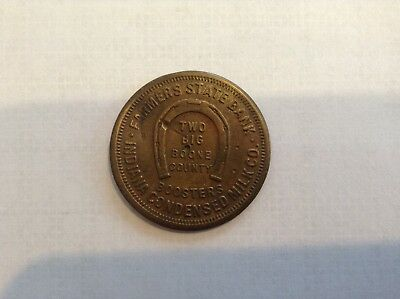 Lebanon, Indiana token, Farmers State Bank, Indiana Condensed Milk Co.