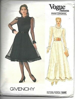 Vintage Paris Original Vogue Sewing Pattern 1044 Dress Givenchy 12-16