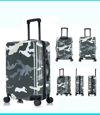 E976 Gray Universal Wheel Coded Lock Travel Suitcase Luggage 24 Inches W