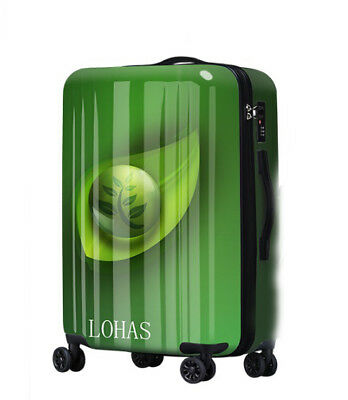 E399 Fashion Universal Wheel Green ABS+PC Travel Suitcase Luggage 24 Inches W