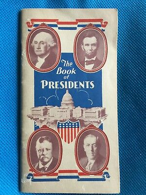 Vintage Antique  Advertising Book of Presidents Political Campaign Collectible