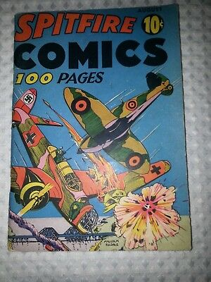 SPITFIRE COMICS #1 (Harvey)-1941-1ST FLY-MAN-Fine+