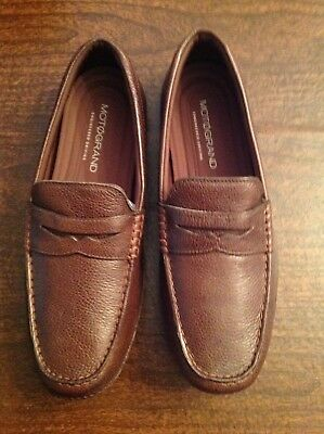 9c22c261daf Cole Haan Men s MotoGrand Brown Leather Driving Penny Loafers Size 11.5M NIB