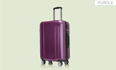 E993 Purple Lock Universal Wheel ABS+PC Travel Suitcase Luggage 24 Inches W