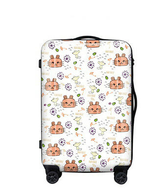 E227 Lock Universal Wheel Cat Mouse Travel Suitcase Cabin Luggage 24 Inches W