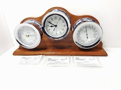 Weems & Plath Ship Maritime Clock Barometer Thermometer