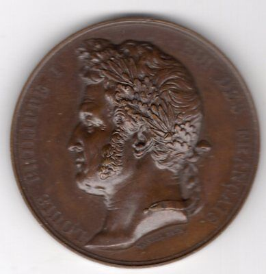 1838 French Medal Issued to Honor King Louis Philippe I, Engraved by Borrel
