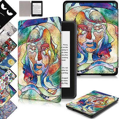 Leather Smart Slim Magnetic Case Cover For Amazon Kindle Paperwhite 2018 10th Ge