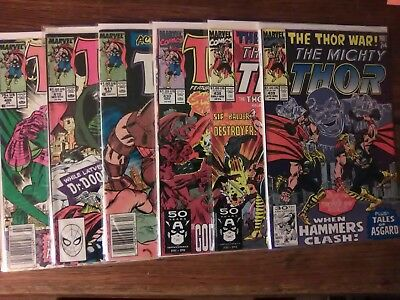Thor Lot #405, 410, 411, 430, 438, 439 (6 Books) Copper Age Higher Grade See Pic