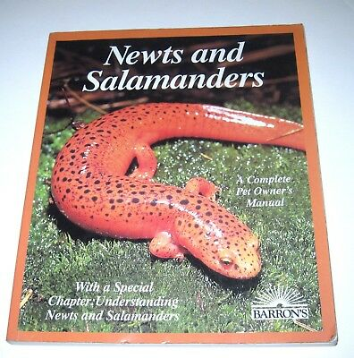 NEWTS  and SALAMANDERS-A COMPLETE OWNER'S GUIDE-PB ILLUS