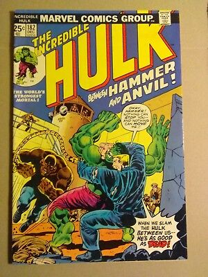 The Incredible Hulk #182 (Dec 1974, Marvel)Early wolverine appearance,8.0