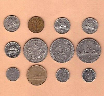Canadian - Mixed Coin Collection Lot # B - World/Foreign/North America