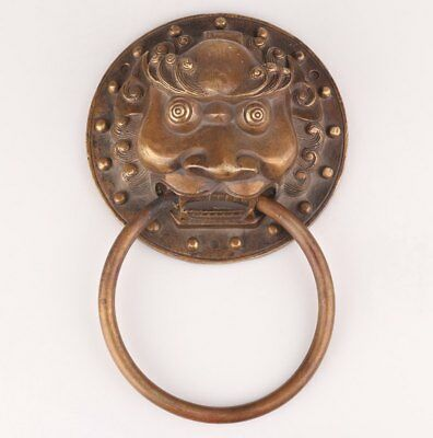 Unique Chinese Bronze Statue Door Handle Bell Tiger Mascot Collection