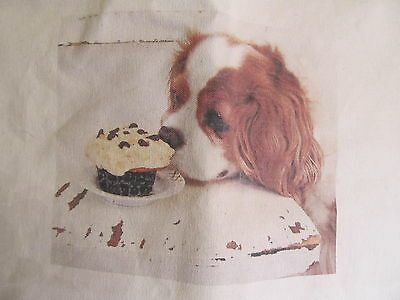 Fridays Cupcake Huge Tote/Shopping Bag Cavalier King Charles Spaniels