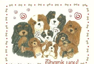 Thank You! Cavalier King Charles Spaniel one blank note card