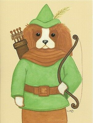 Robin Hood, Blenheim Cavalier King Charles Spaniel One blank note card