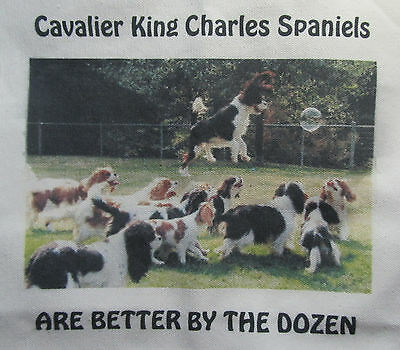 BETTER BY THE DOZEN.  Huge Tote/Shopping Bag Cavalier King Charles Spaniels