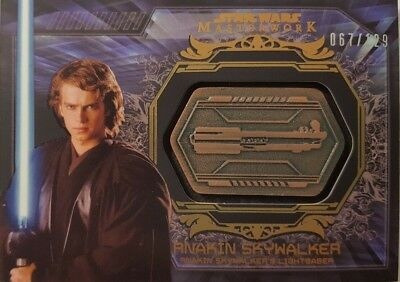 Star Wars 2015 MASTERWORK Weapons Medallion Card ANAKIN SKYWALKER Lightsaber