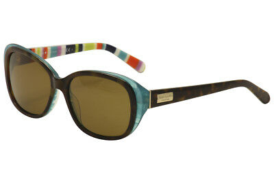 c228a73ebd7 Kate Spade Hilder P S X71P VW Olive Tortoise Turquoise Striped Sunglasses