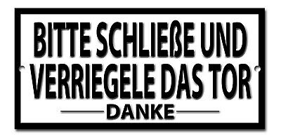 Please Close And Bolt The Gate Metal Sign.instructional Sign,garden Gate Sign.