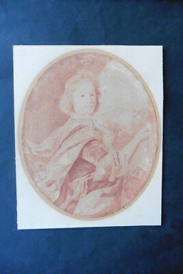 DUTCH SCHOOL 17thC - PORTRAIT NOBLE GENT CIRCLE PETER LELY - RED CHALK DRAWING