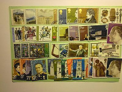 GREAT BRITAIN: 1971/2 Used Commemoratives 11 sets/36vals btwn Sg881/917