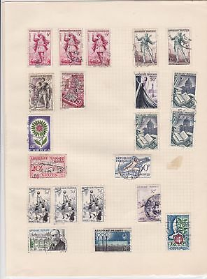 france stamps page ref 17058