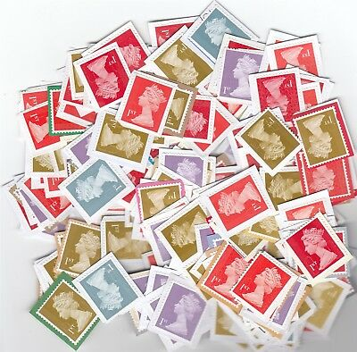 500 x 1st Class Security Stamps - Unfranked ON PAPER - F/V £335