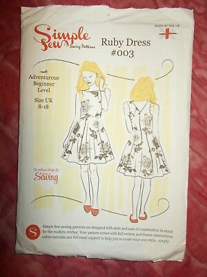 Simple Sew Ruby Dress Sewing Pattern Sizes 8-18  - New (003)